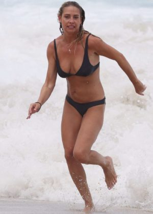 Lisa Clark in Black Bikini on a beach in Sydney Pic 29 of 35