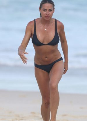 Lisa Clark in Black Bikini on a beach in Sydney Pic 31 of 35