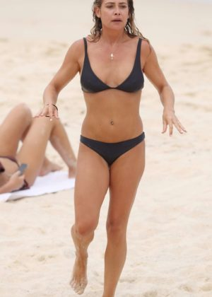Lisa Clark in Black Bikini on a beach in Sydney Pic 12 of 35