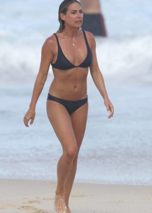 Lisa Clark in Black Bikini on a beach in Sydney Pic 20 of 35