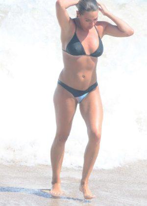 Lisa Clarke in Black Bikini at Tamarama Beach in Sydney Pic 16 of 35
