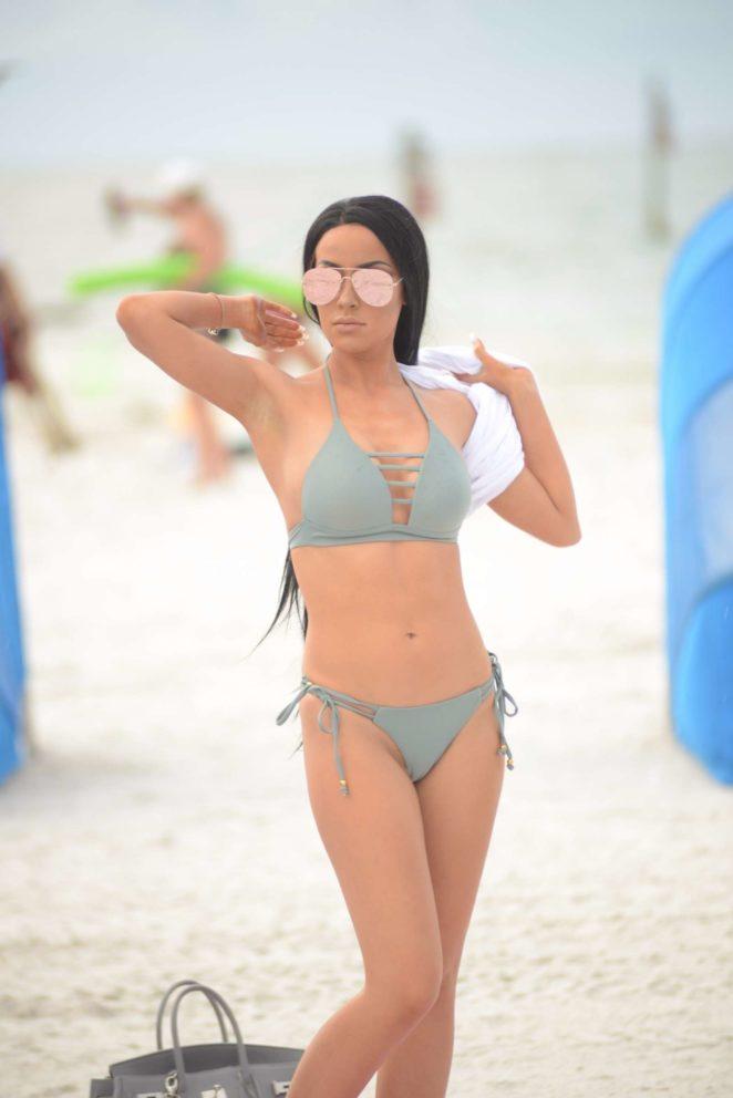 Lisa Opie in Bikini at the beach in Miami