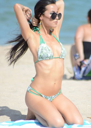 Lisa Opie Hot in Bikini in Miami