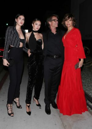 Lisa Rinna and daughters Amelia and Delilah Hamlin at Poppy club in West Hollywood