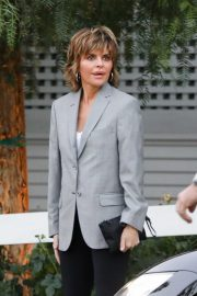 Lisa Rinna and Harry Hamlin arrive at the San Vicente Bungalows