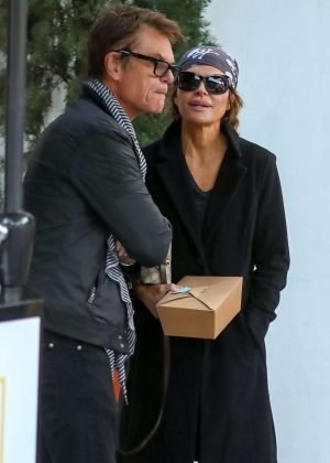 Lisa Rinna and Harry Hamlin at Fig & Olive in West Hollywood