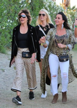 Lisa Rinna and Kyle Richards - 2018 Coachella Festival in Indio