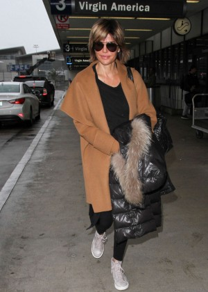 Lisa Rinna at LAX Airport in Los Angeles