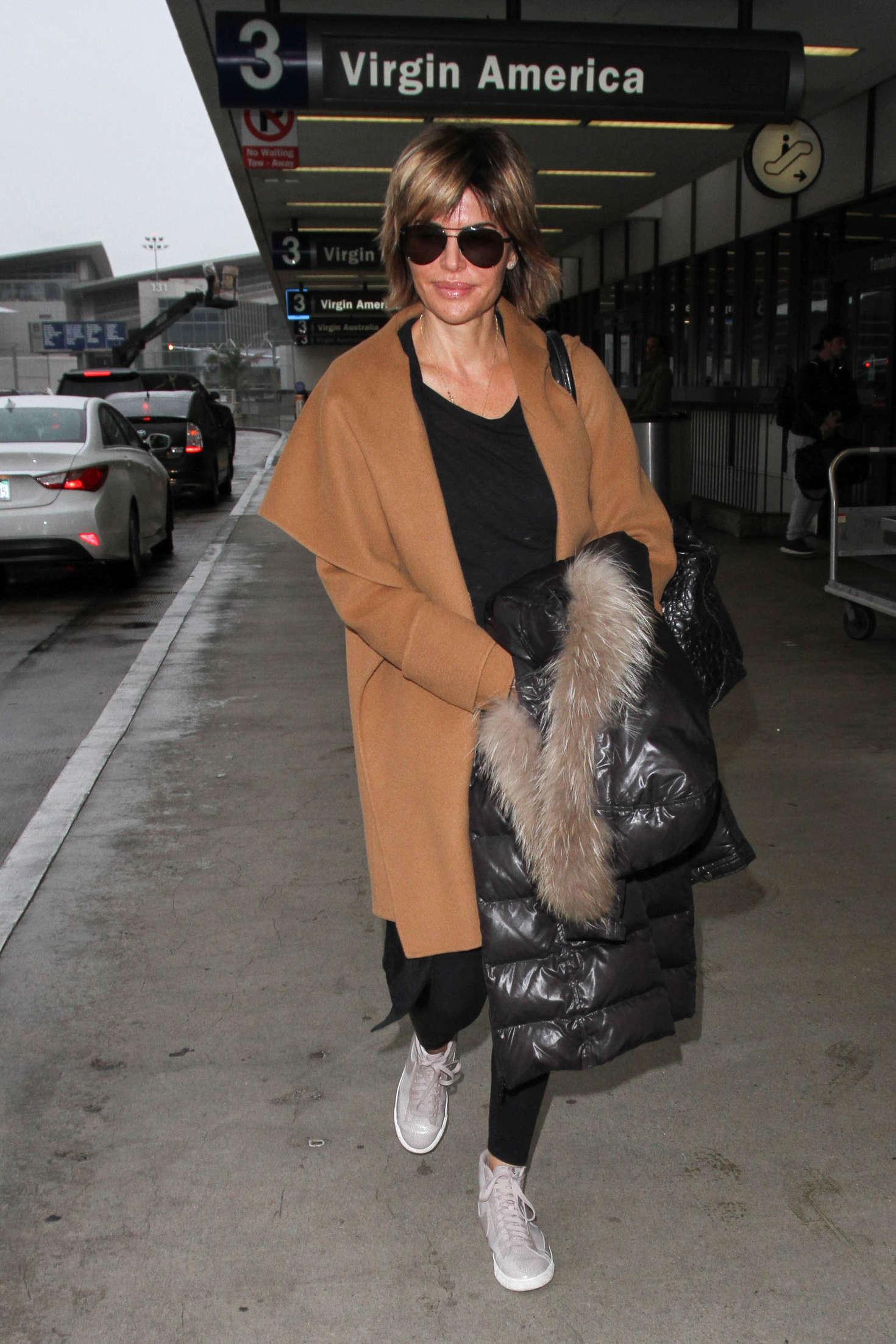 Lisa Rinna at LAX Airport in Los Angeles