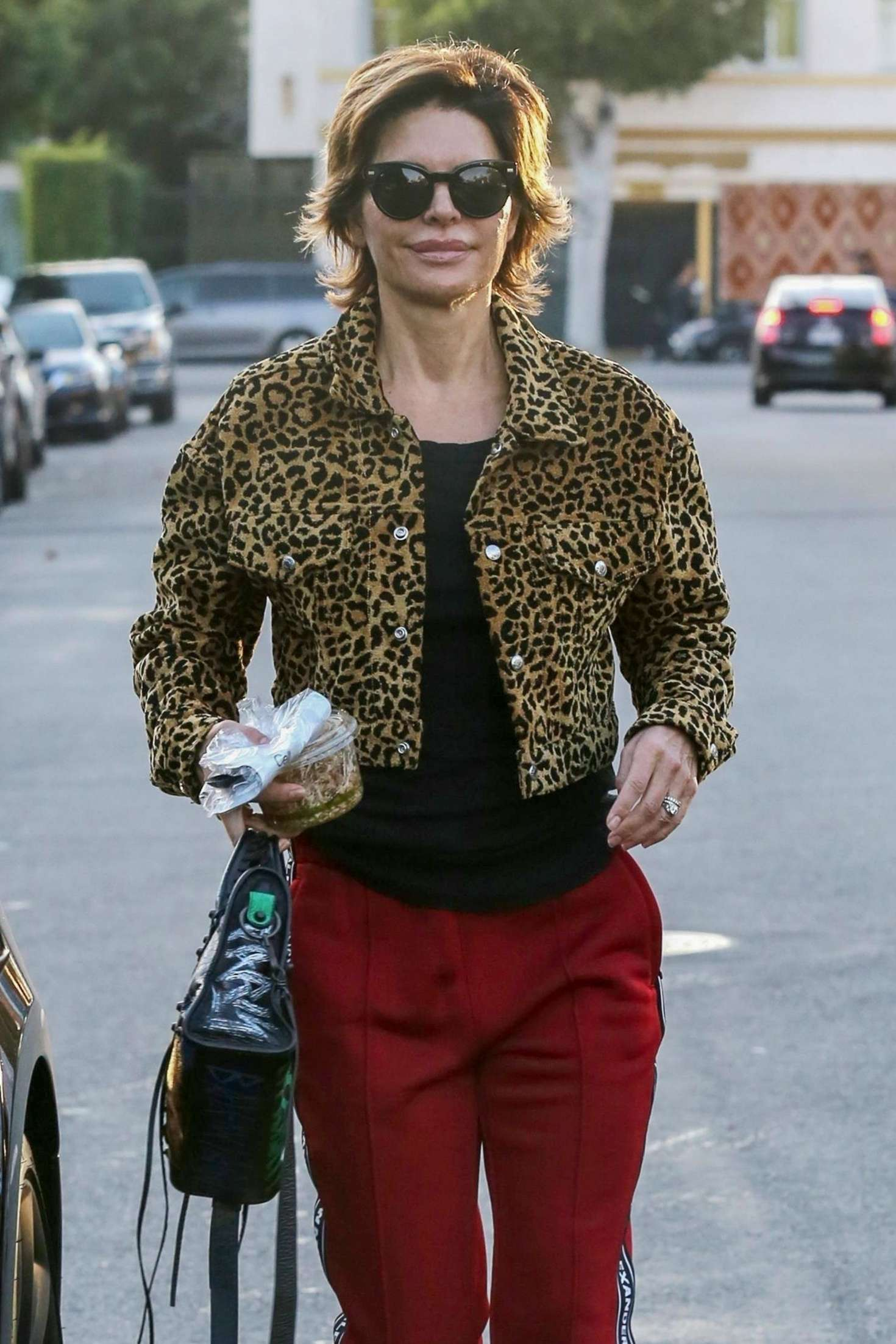 Lisa Rinna 2018 : Lisa Rinna in Animal Print Coat -05