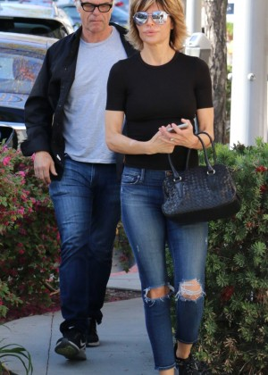 Lisa Rinna in Jeans out in Beverly Hills