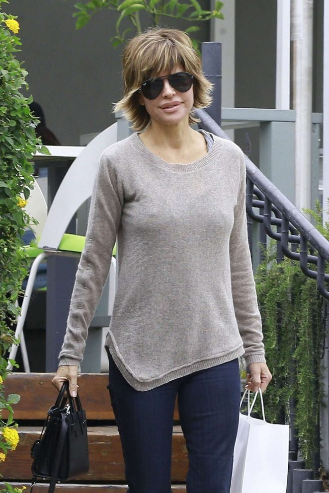 Lisa Rinna in Leggings out in West Hollywood