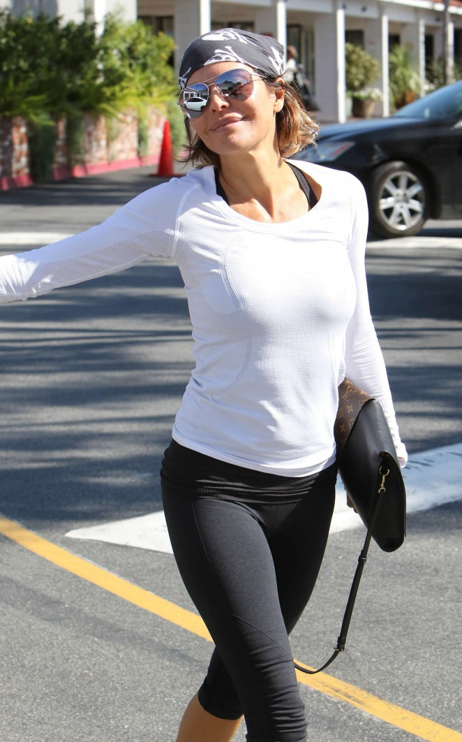 Lisa Rinna in Tight Leggings out in Hollywood Hills