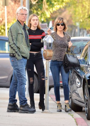 Lisa Rinna with her family out in Beverly Hills