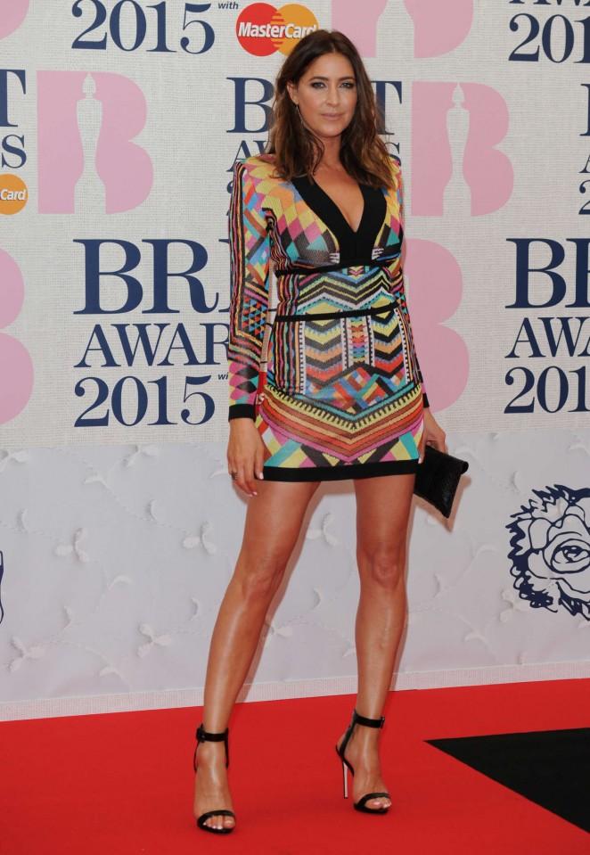 Lisa Snowdon - 2015 BRIT Awards in London