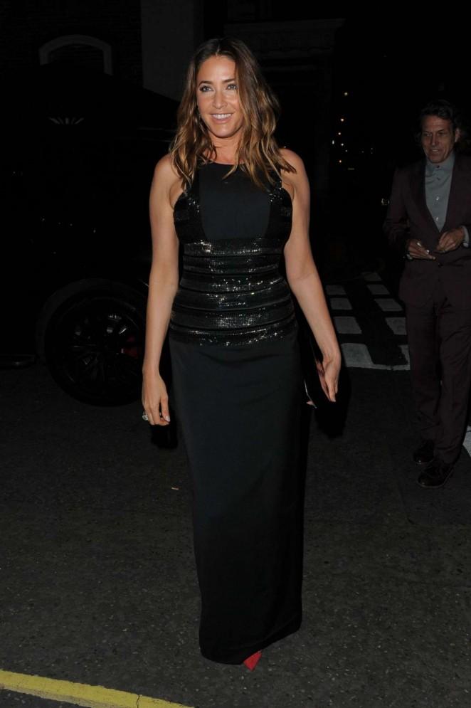 Lisa Snowdon - British Vogue Dinner in London