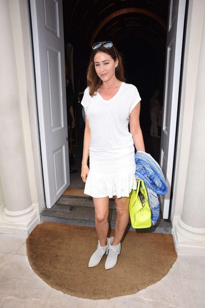 Lisa Snowdon in White Mini Dress -02