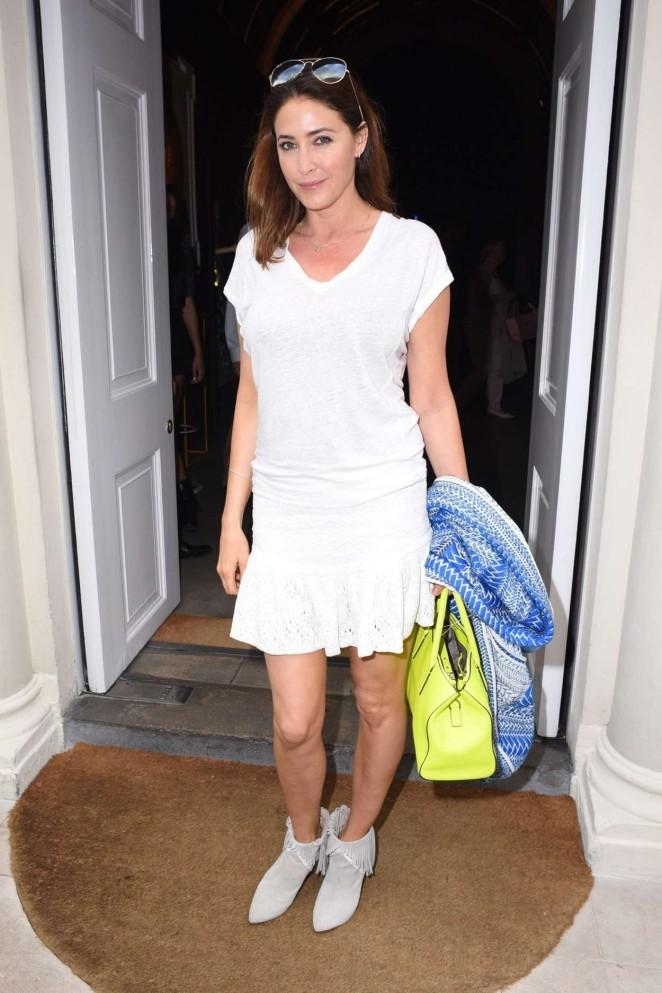 Lisa Snowdon in White Mini Dress -04