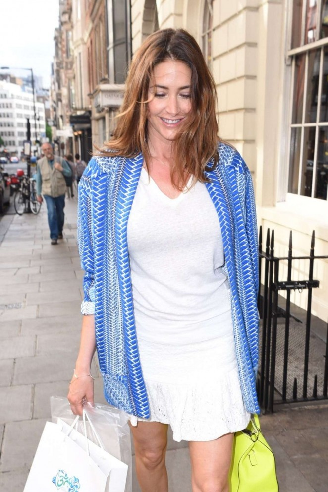 Lisa Snowdon in White Mini Dress -05