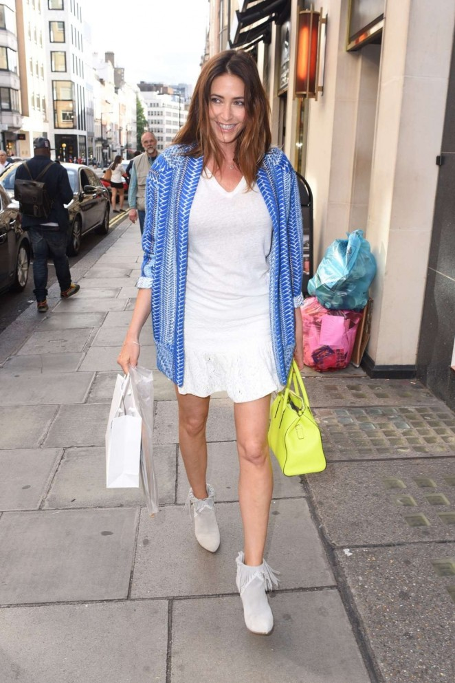 Lisa Snowdon in White Mini Dress -06