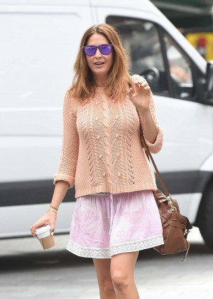 Lisa Snowdon in Mini Skirt out in London