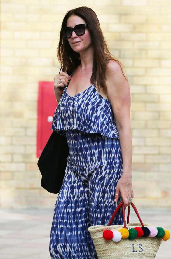 Lisa Snowdon - outside ITV Studios in London