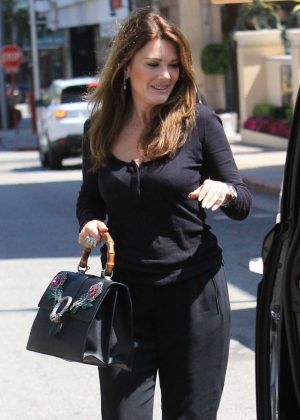 Lisa Vanderpump and Ken Todd out for lunch in Beverly Hills