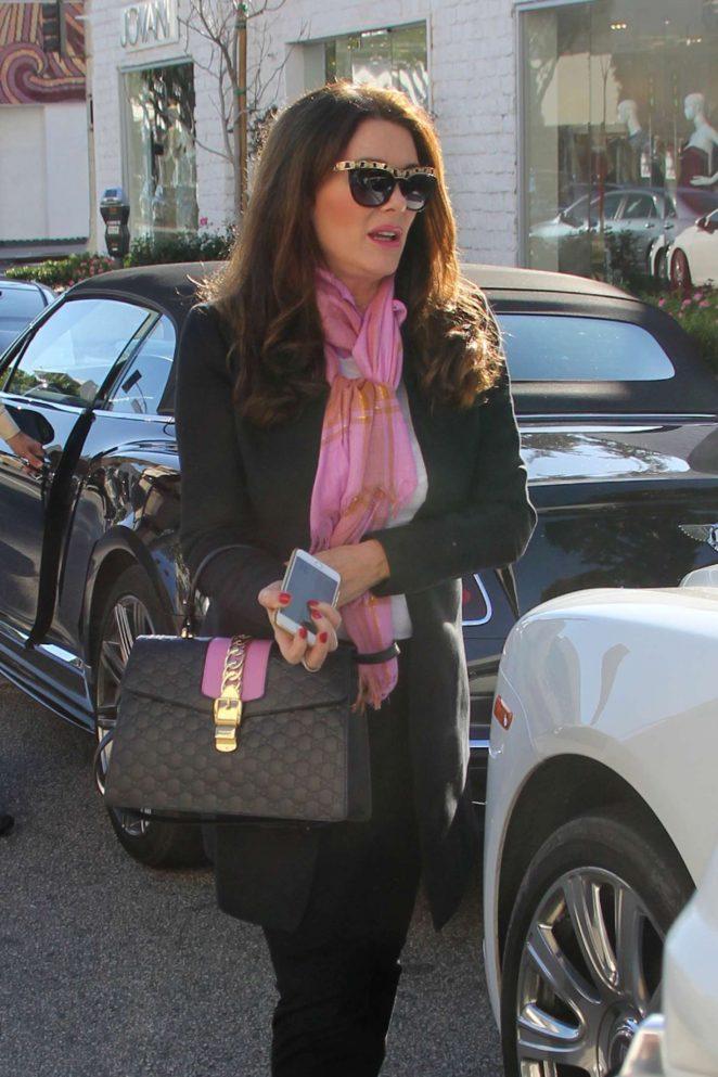 Lisa Vanderpump at The Ivy in Beverly Hills