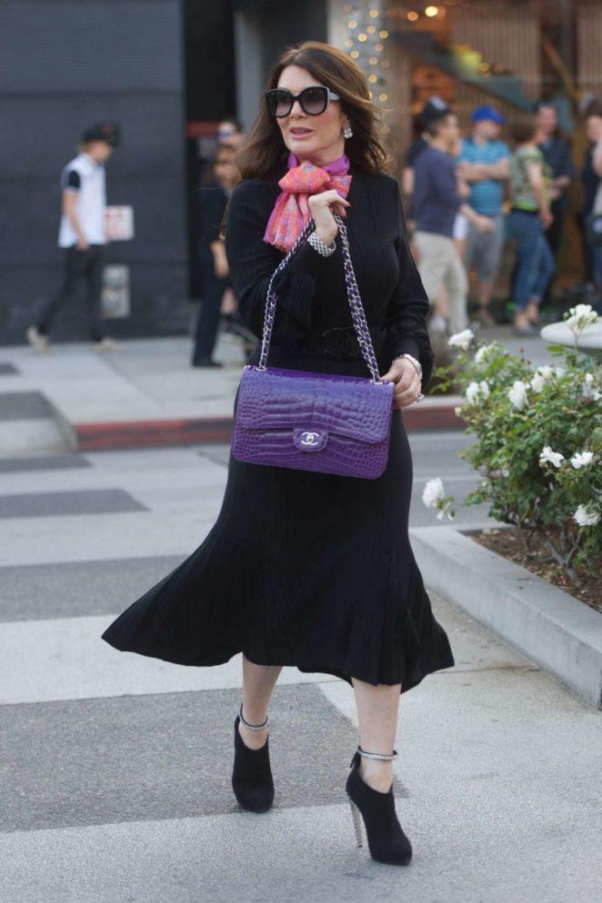 Lisa Vanderpump in Long Black Dress – Shopping in Beverly Hills