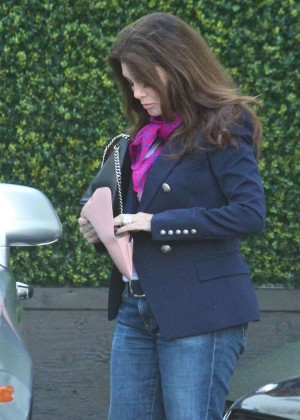 Lisa Vanderpump in Jeans Out in Beverly Hills