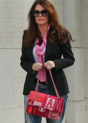 Lisa Vanderpump shops for a new rug in Beverly Hills