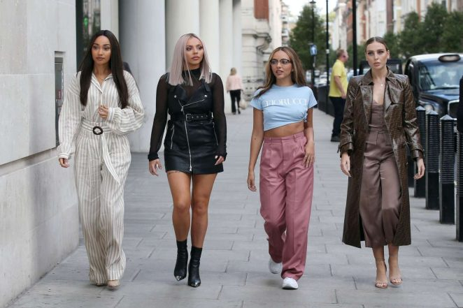 Little Mix - Arriving at BBC Radio One in London