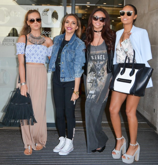 Little Mix at Nick Grimshaw Breakfast Show in London