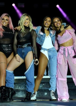 Little Mix Performing At Capital Radio Summertime Ball