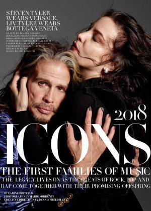 Liv and Steven Tyler - Harper's Bazaar UK Magazine (September 2018)