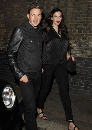 Liv Tyler and Dave Gardner Leaves The Chiltern Firehouse in London