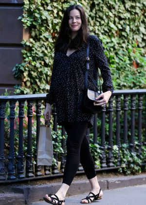 Liv Tyler in Spandex out in New York