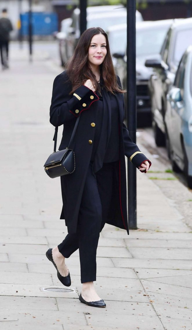 Liv Tyler Leaves Her Home in London