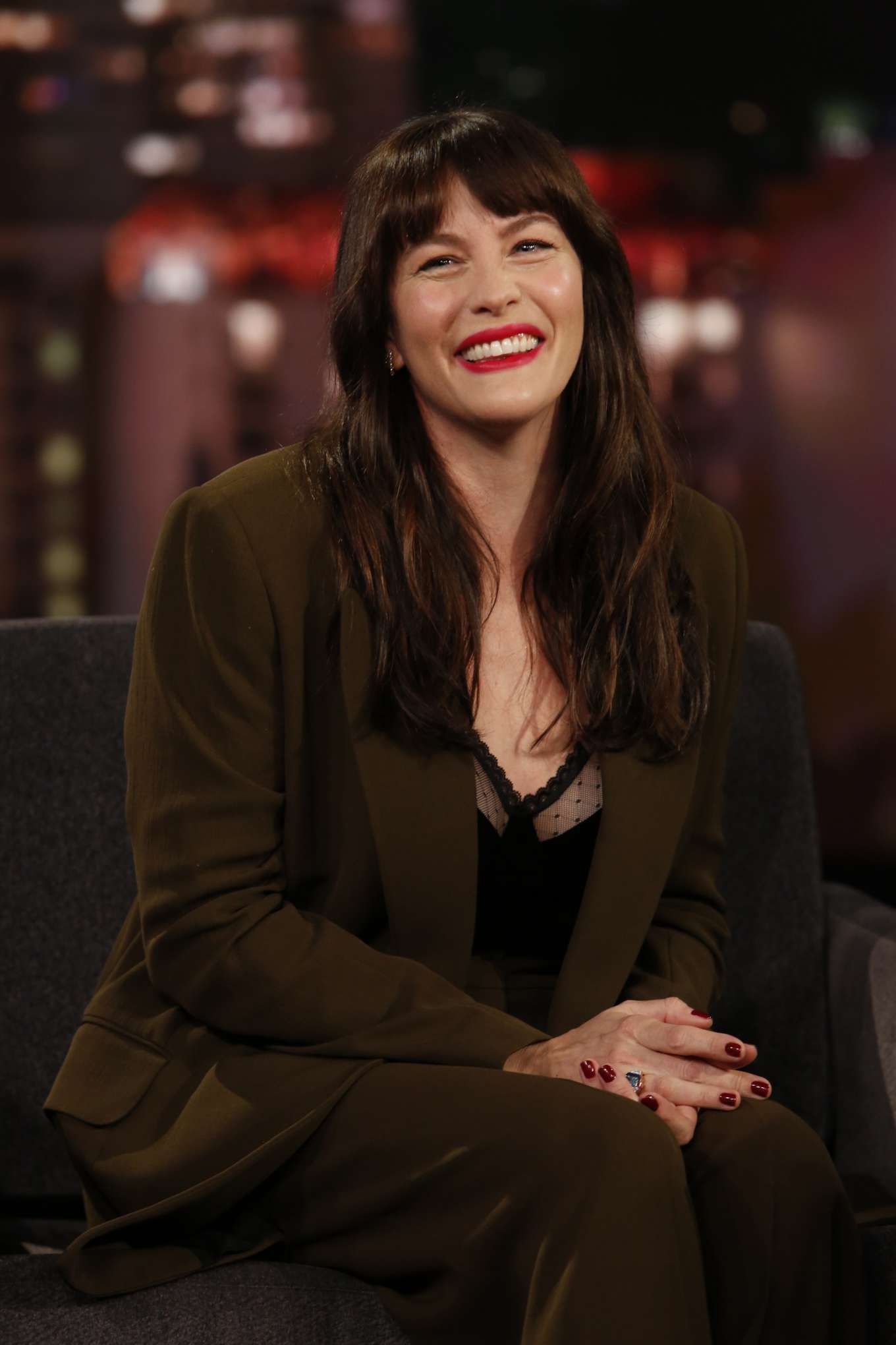 Liv Tyler - On 'Jimmy Kimmel Live!' in Los Angeles
