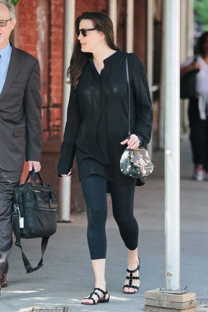 Liv Tyler in Leggings Out in NYC