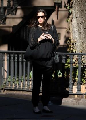 Liv Tyler waits for her Uber car in New York City