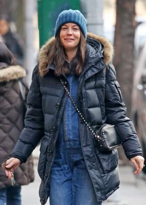 Liv Tyler walks in New York City