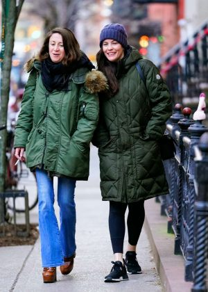 Liv Tyler with a friend out in New York