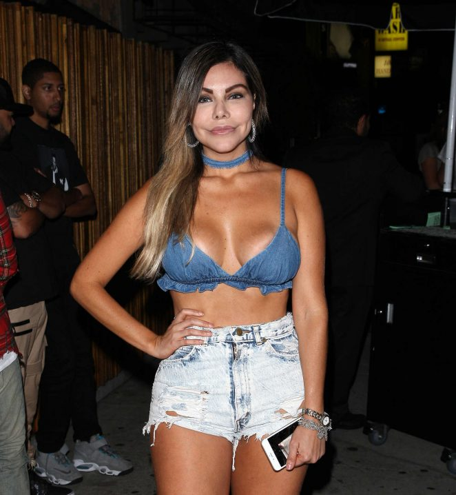 Liziane Gutierrez at The Nice Guy night club in West Hollywood