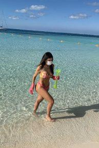 Liziane Gutierrez in Bikini on the beach in Mexico