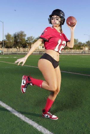 Liziane Gutierrez - Super Bowl photo shoot in Miami