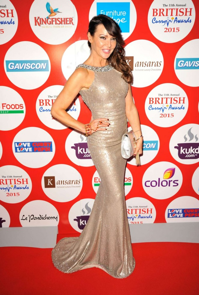 Lizzie Cundy - 2015 British Curry Awards in London
