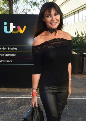 Lizzie Cundy - Arrives at ITV Studio in London