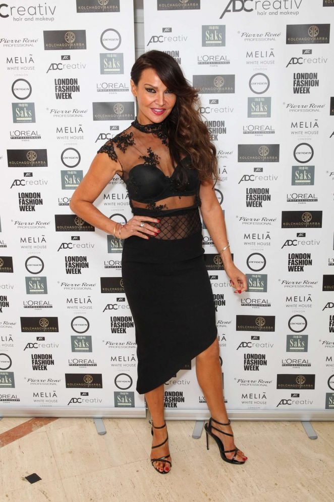 Lizzie Cundy - Ashley Williams Show SS 2017 at London Fashion Week