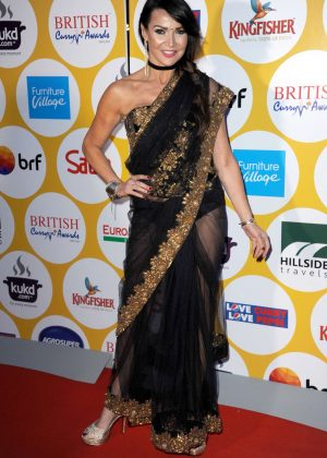 Lizzie Cundy - British Curry Awards 2016 in London